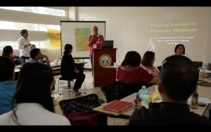 Mr Nelson Plada of the Davao del Norte Provincial Planning   Office providing the closing remarks