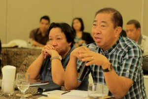 Oriental Mindoro Governor Umali stressing a point during   the Calapan workshop